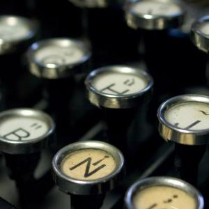 Single spaces after periods forever! Also, this is a stock photo of typewriter keys.