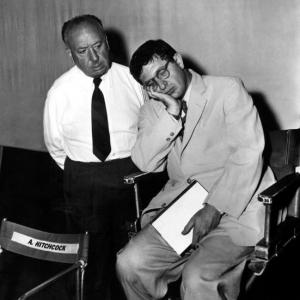Alfred Hitchcock and Bernard Herrmann (image credit unknown)