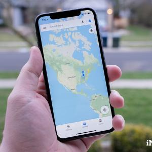 Google maps on a phone