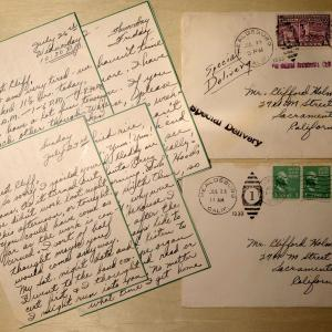 Letters from Mary Stubbs to Clifford Holmes